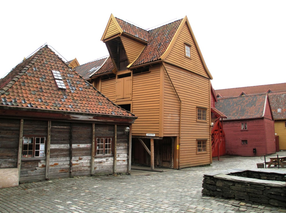 Bryggen wharf area in downtown Bergen. Photo: Doug Tomren