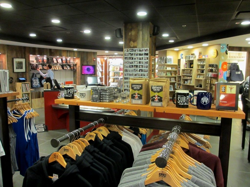 Merchandise Sub Pop Airport Store