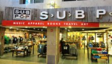 The entrance to the Sub Pop Airport Store, located in Sea-Tac Airport.