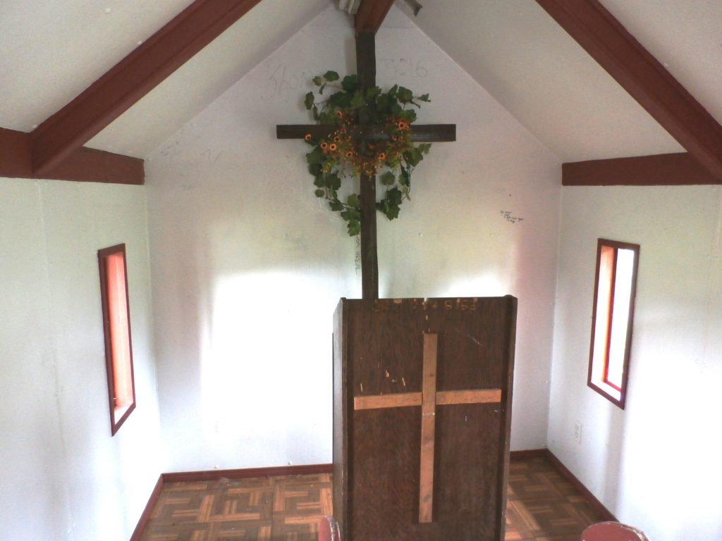 Pulpit in the tiny church