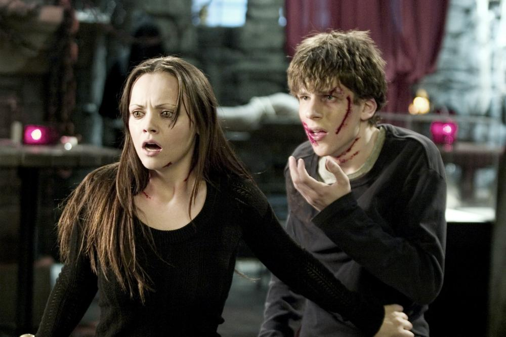 Christina Ricci and Jesse Eisenberg in the 2005 horror film 'Cursed' by Wes Craven. Image: Dimension Films.