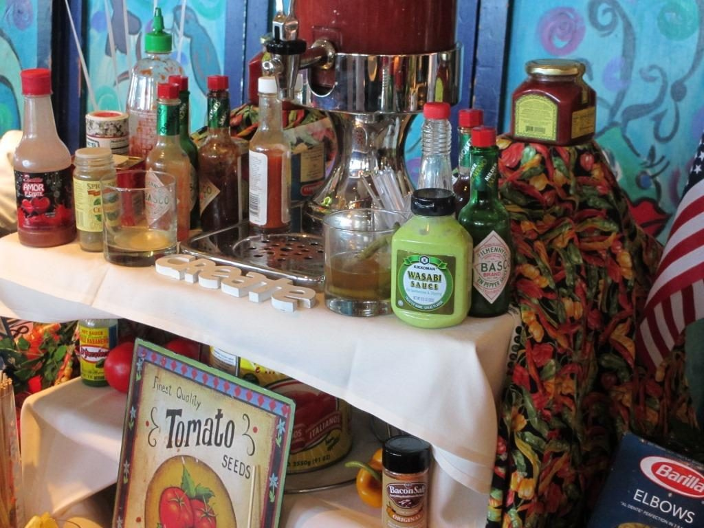 'Build Your Own Mary' bar at Salty's