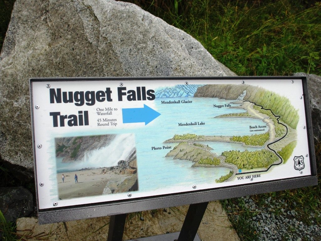 Map of Nugget Falls Trail, Mendenhall