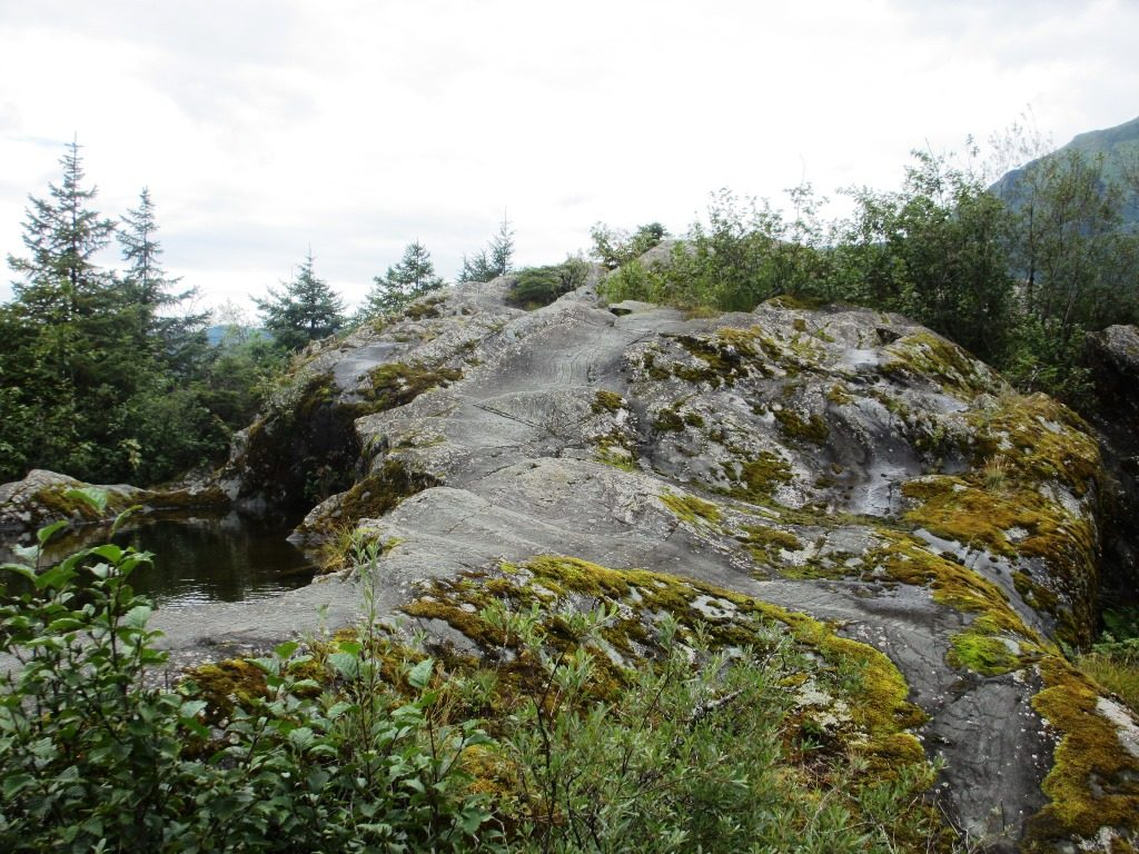 Rock formation along Photo Point Trail, Mendenhall