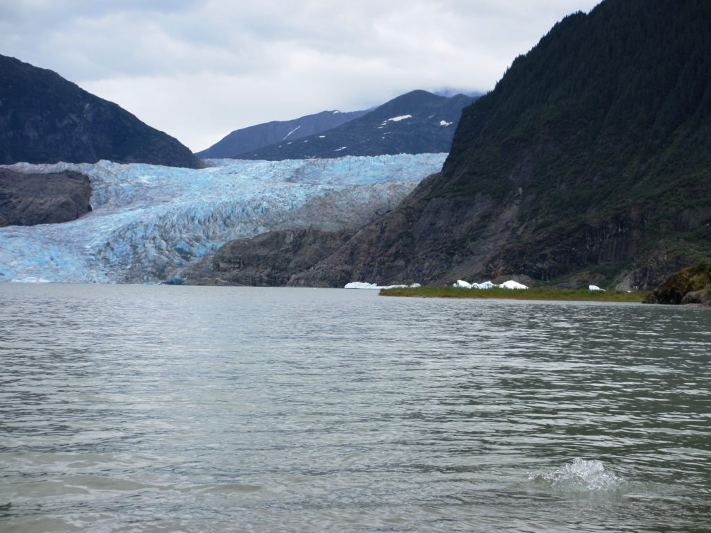 Mendenhall Glacier from the shore of Mendenhall Lake