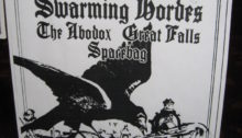 Concert poster for Guns of Barisal with Swarming Hordes, The Abodox, Great Falls and Spacebag. Nov. 19, 2011 at the Funhouse in Seattle.