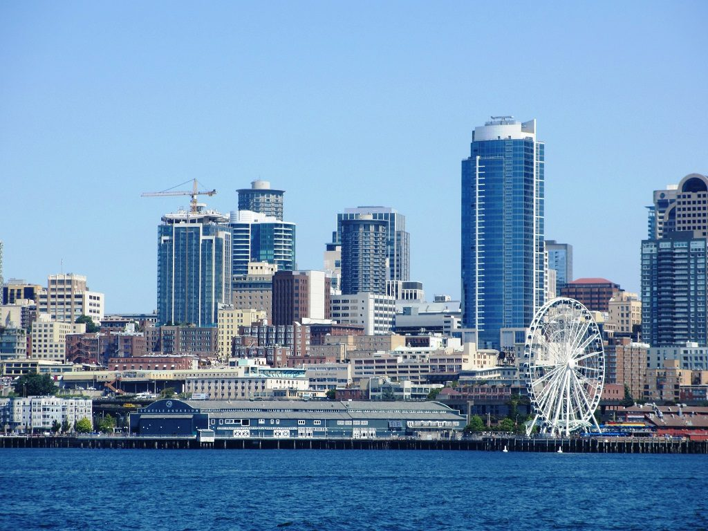 Seattle skyline, taken from the King County Water Taxi.