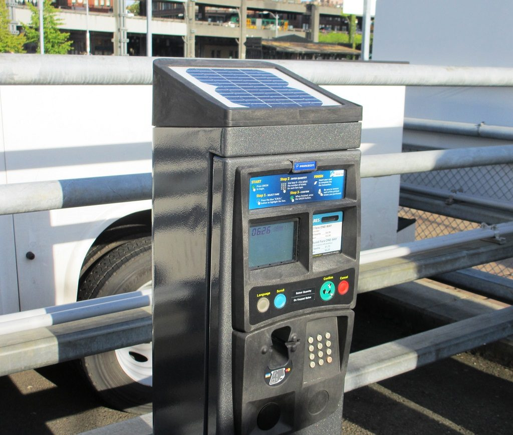 Vending machine to buy tickets for the King County Water Taxi.