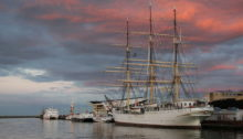 Tall ship Dar Pomorza in Gdynia, Poland