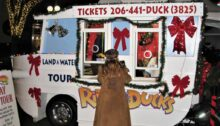 Ride The Ducks outdoor ticketing stand, late November 2011.