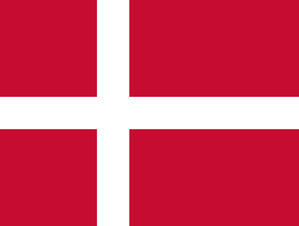 Flag of Denmark-Norway, from 1536 to 1814.