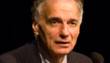 Ralph Nader speaking at BYU's Alternate Commencement, 2007