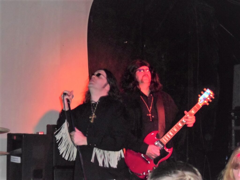 David Hillman (vocals) and Eric Getty (guitar) of Seattle-based Black Sabbath tribute Bastard of Reality.