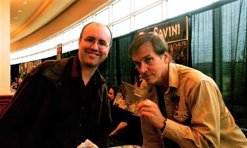 Erik Tomren with Bill Mosely at Seattle's 2011 ZomBcon.